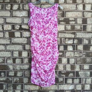 Ann Taylor pink and white floral dress size 4